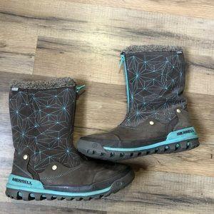 Merrell Womens Bracken Insulated Brown Boot, Sz 7